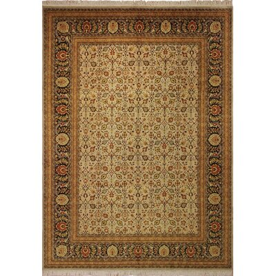 One-of-a-Kind Brook Hollow Hand Knotted Wool Beige Area Rug