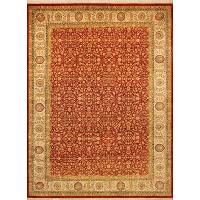 One-of-a-Kind Rutledge Hand Knotted Wool Rust Area Rug