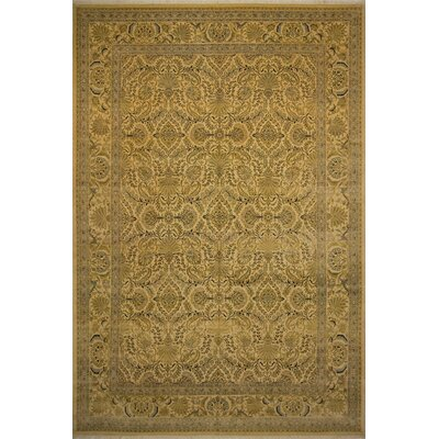 Roessler Hand Knotted Wool Beige Area Rug Rug Size: Rectangle 10' x 14'3