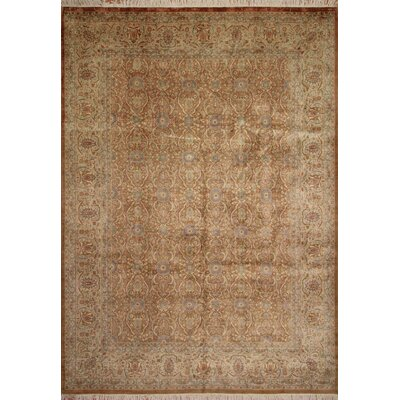Bromberg Hand Knotted Wool Beige Area Rug