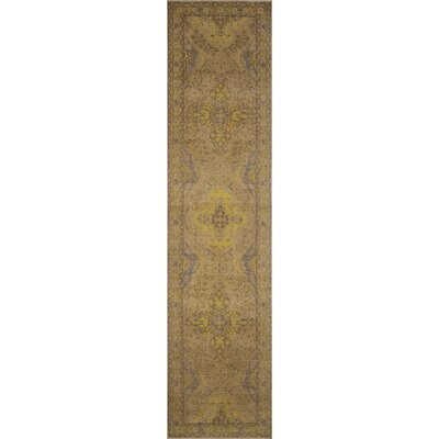 One-of-a-Kind Saxonburg Distressed Hand Knotted Wool Beige Area Rug
