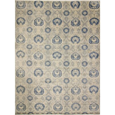 One-of-a-Kind Harkness Hand-Knotted Wool Gray/Ivory Area Rug