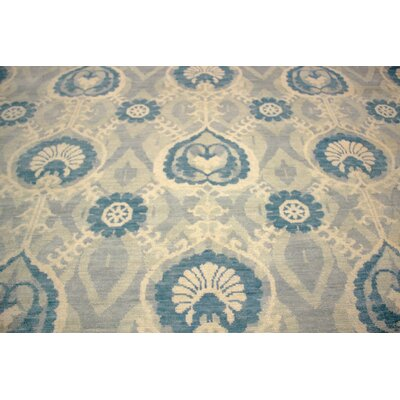 One-of-a-Kind Harkness Hand-Knotted Wool Teal/Blue Area Rug