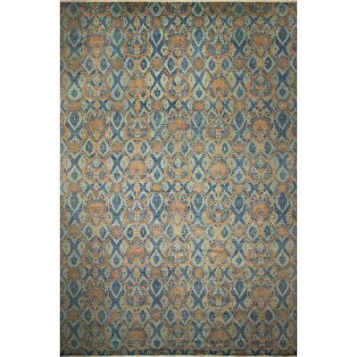 One-of-a-Kind Harkness Hand-Knotted Wool Blue/Yellow Area Rug