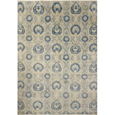 Harkness Hand-Knotted Wool Gray/Blue Area Rug