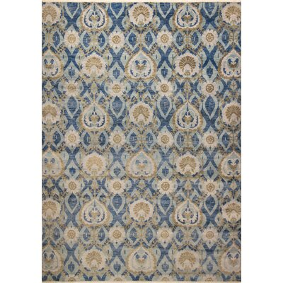 One-of-a-Kind Harkness Hand-Knotted Soft Wool Blue Area Rug
