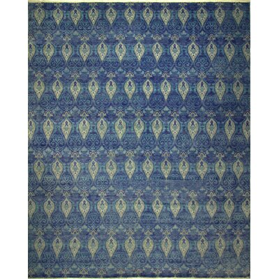 One-of-a-Kind Harkness Hand-Knotted Wool Blue Area Rug