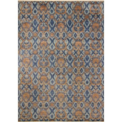 One-of-a-Kind Harkness Hand-Knotted 100% Wool Blue/Brown Area Rug
