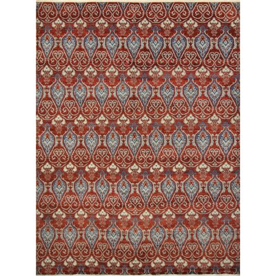 Harkness Hand-Knotted Wool Red Area Rug