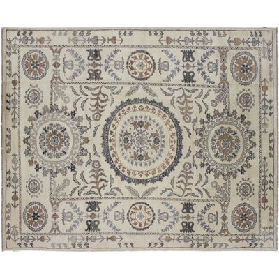 One-of-a-Kind Francois Hand Knotted Wool Ivory Area Rug