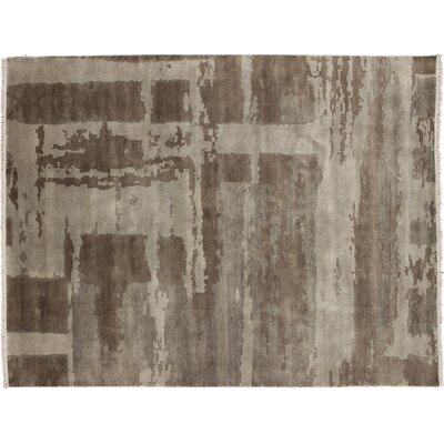 Harkness Hand-Knotted Wool Brown Area Rug