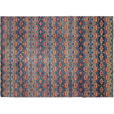 One-of-a-Kind Francois Hand Knotted Wool Blue Area Area Rug