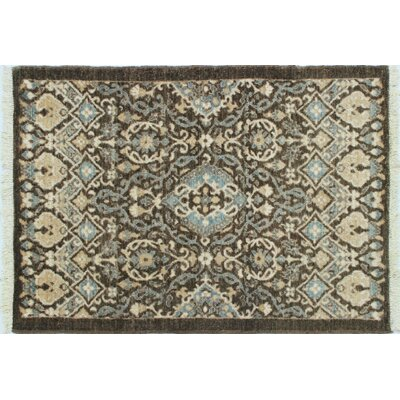 Leann Hand-Knotted Wool Brown/Beige Area Rug