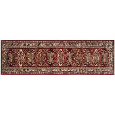 Chanell Hand-Knotted Wool Red Area Rug