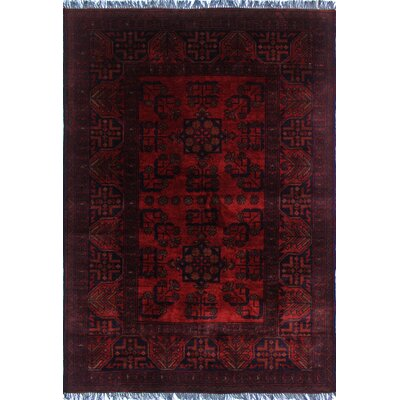 One-of-a-Kind Alban Hand-Knotted Wool Red Area Rug