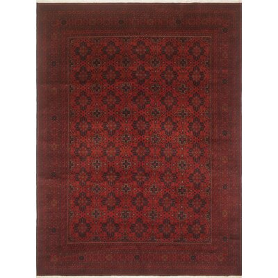 Alban Hand-Knotted Wool Red Area Rug