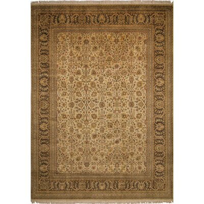 One-of-a-Kind Broadway Village Hand Knotted Wool Beige Area Rug