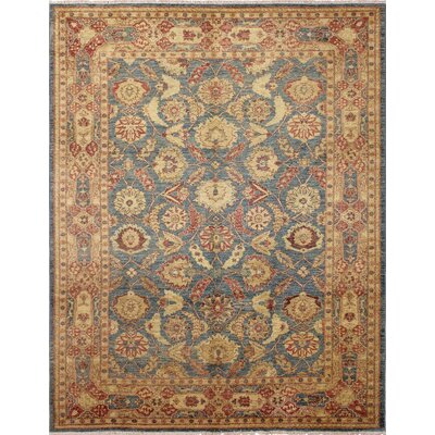 One-of-a-Kind Leann Hand Knotted Oriental Wool Blue Area Rug