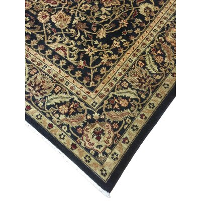 Montague Hand-Knotted Wool Black/Brown Area Rug