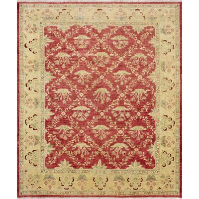 One-of-a-Kind Leann Hand-Knotted Wool Pink Area Rug