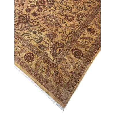 One-of-a-Kind Leann Hand Knotted Rectangle Wool Gold Area Rug