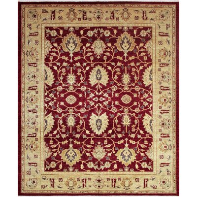 One-of-a-Kind Leann Hand Knotted Wool Rust Area Rug
