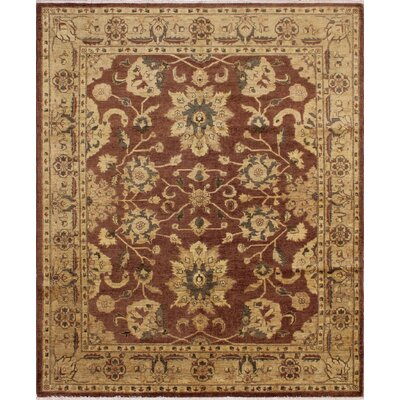 One-of-a-Kind Leann Hand Knotted Wool Chocolate Area Rug