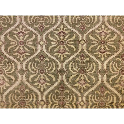 Lauterbach Hand-Knotted Wool Green/Brown Area Rug