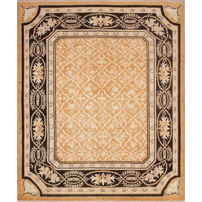 One-of-a-Kind Leann Hand Knotted Rectangle Wool Rust Area Rug