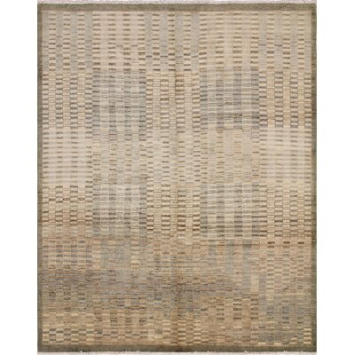 Lauterbach Hand-Knotted Wool Brown Area Rug