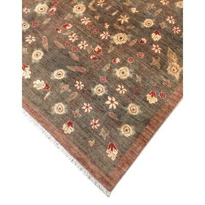 One-of-a-Kind Leann Hand Knotted Premium Wool Chocolate Area Rug