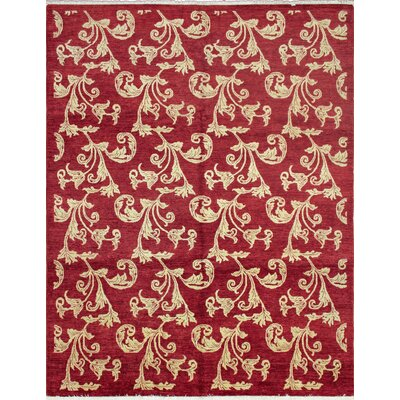 One-of-a-Kind Leann Hand-Knotted Wool Red Area Rug