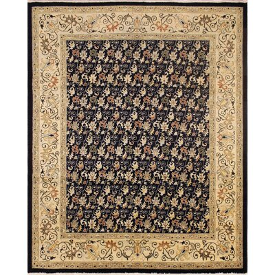 Montague Hand-Knotted Wool Beige/Black Area Rug