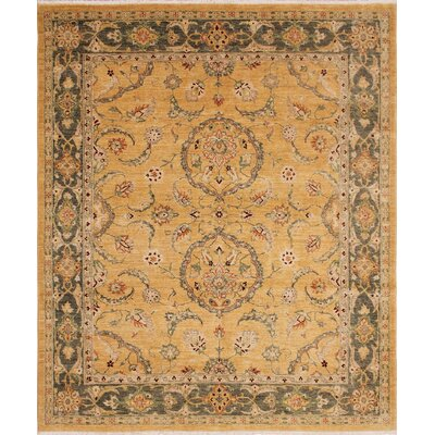 Leann Hand-Knotted Wool Gold Area Rug