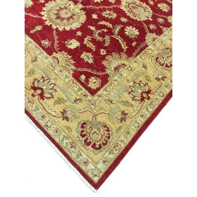 One-of-a-Kind Montague� Hand-Knotted Wool Red/Beige Area Rug