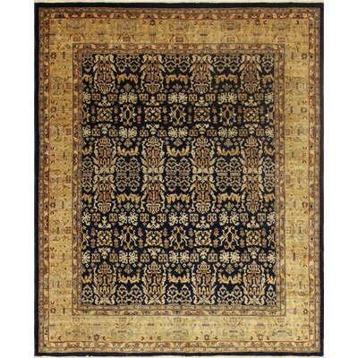 Montague Hand-Knotted Wool Black/Beige Area Rug