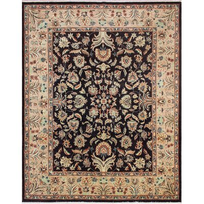 Leann Hand-Knotted Premium Wool Chocolate Area Rug