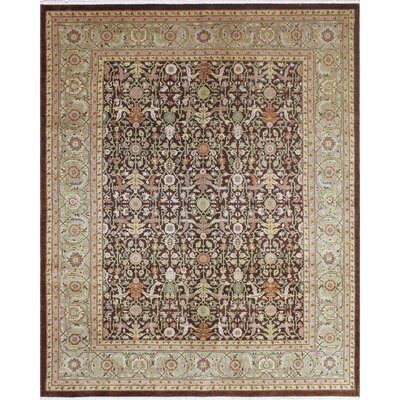 One-of-a-Kind Montague� Hand-Knotted Wool Chocolate Area Rug