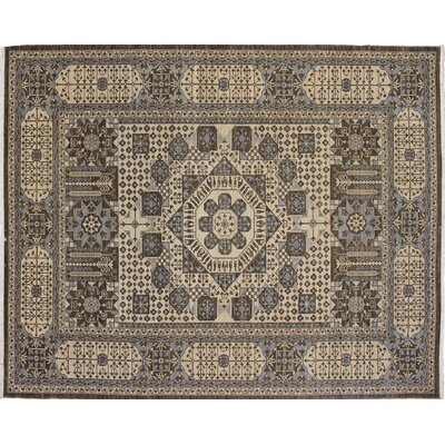 One-of-a-Kind Leann Hand Knotted Oriental Wool Chocolate Area Rug