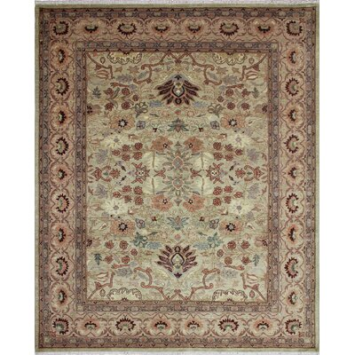 Leann Hand-Knotted Wool Gray Area Rug