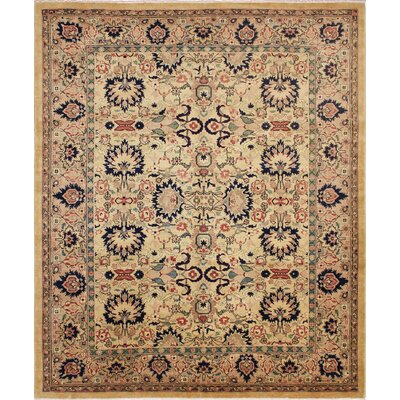One-of-a-Kind Leann Hand Knotted Wool Gold Area Rug