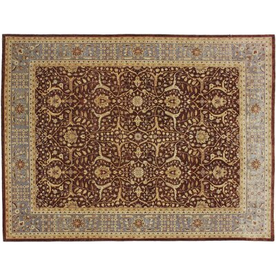 One-of-a-Kind Broadway Village Hand Knotted Wool Chocolate Area Rug