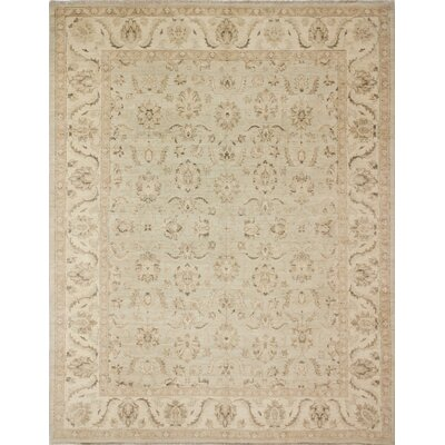 Leann Hand-Knotted Wool Beige Area Rug