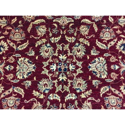 Montague Hand-Knotted Wool Red Area Rug