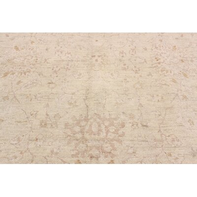One-of-a-Kind Leann Hand Knotted Oriental Wool Beige Area Rug