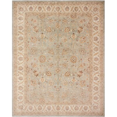 Leann Hand-Knotted Wool Brown Area Rug