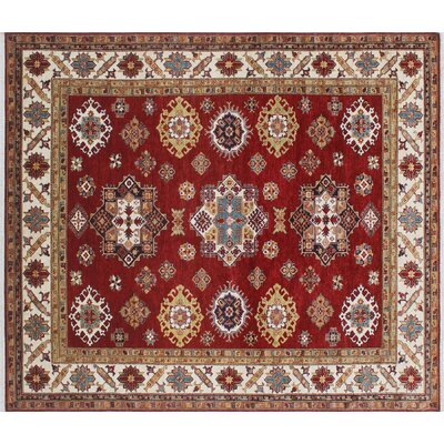 One-of-a-Kind Felder Geometric Hand-Knotted Wool Red Area Rug