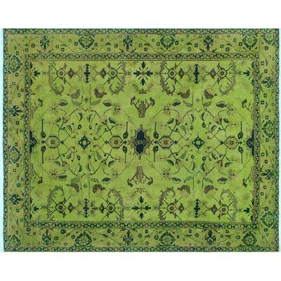One-of-a-Kind Chaney Hand-Knotted Wool Lime Green Area Rug