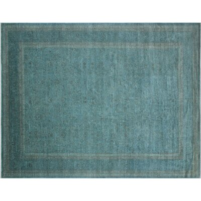 One-of-a-Kind Chaney Hand-Knotted Wool Teal Area Rug