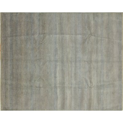 One-of-a-Kind Diego Grass Hand-Knotted Silver Area Rug